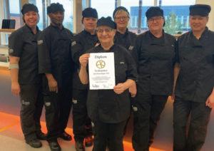 Bild på kökspersonal från en skola som vann Svekologiska priset 2020